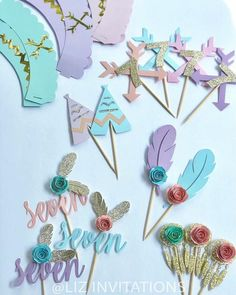 Boho whimsical birthday party details, you can choose in the menu what you want and quantity. Boho whimsical birthday party details you can choose in the Indian Birthday Parties, Wild One Birthday Party, Pocahontas Birthday Party, Diy Birthday, Birthday Party Invitations, Boho Theme, Boho Decor, Teepee Party, Girl Birthday Decorations