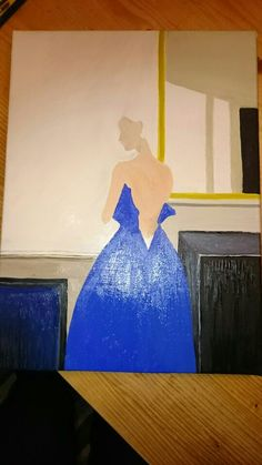 Image 11.   I've added the base for the blue gown. Not sure if this is dark enough. But once I add the lighter tones I'm hoping this will make it seem a darker tone.