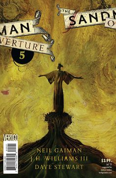 Variant cover to The Sandman: Overture #5 (2015), art by Dave McKean