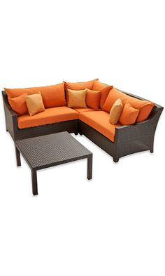 RST Brands OP-PESS4-TKA-K Deco 4pc Sectional & Table - Tikka Best Price