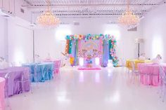 Unicorn First Birthday Party by @keventdecor on Catch My Party! Gold Chandelier Cupcake stands by Opulent Treasures …Vendor's credits.. ✦All Desserts ~ @sweet_touch_by_iva ✦Decor Photography ~ @budecoracion ✦Event Stylist ~ @beelovedparties ✦Balloons ~ @poparazziballoons / @willyb_balloons ✦Venue ~ @lightsonkent ✦Custom Decor ~ @ittybitsdesigns ✦Event Photographer ~ @sueannettephotography ✦Linens~ @cvlinens ✦Dessert Stands ~ @opulenttreasures