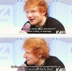 god ed sheeran gets more bangable every time he talks.