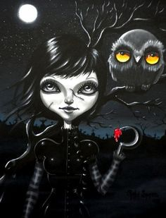 Creatures Of The Night by Gabi Spree Zombie Canvas Art Giclee Print – moodswingsonthenet