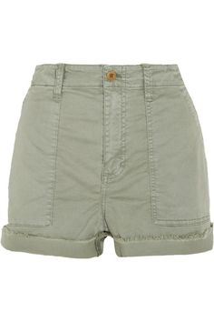 Madewell - Stretch-cotton Twill Shorts - Green - 30