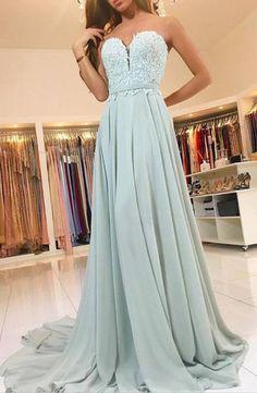 Elegant sweetheart lace evening dresses long chiffon prom dress E99 1efe4636b344