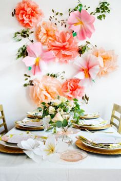 how to style a bridal shower with a floral focus | domino.com