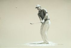 Jordan Spieth - drawing and painting on paper