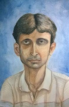 Model Portrait Watercolor