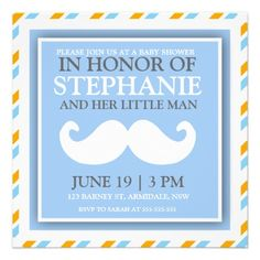 Shop Mustache baby boy shower invites created by cheapinvites. Baby Invitations, Baby Shower Invitations For Boys, Custom Invitations, Invites, Baby Shower Parties, Baby Boy Shower, Baby Shower Gifts, Baby Showers, Sister Shower