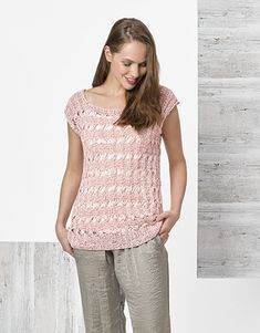 Model / Pattern of Sweater of Woman of Spring / Summer from KATIA Laine Katia, Pull Rose, Aqua Rose, Color Inspiration, Lana, Sweaters For Women, Spring Summer, Feminine, Knitting