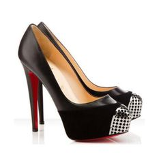 Christian Louboutin replica Black Metal Calypso Pumps.Please click picture to buy and get more detail.