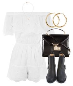 """""""Untitled #6792"""" by laurenmboot ❤ liked on Polyvore featuring Topshop, Rebecca Minkoff, Acne Studios, H&M and Sw/Tch"""
