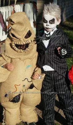 Coolest Oogie Boogie Costume with Jack and Sally from Nightmare Before Christmas... Coolest Halloween Costume Contest