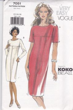 Vogue 7051 Vintage Muster Womens hautenge Kleid mit von OhSewVogue