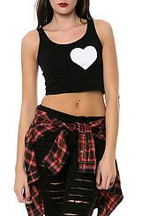The Women's Crop Top in Black and White