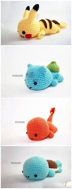 Starter Pokemon :) Gotta learn to crochet more things!!! :D