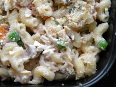 "Lighter Tuna Noodle Casserole (w/link for diy ""cream of something"" soup Freezer Cooking, Freezer Meals, Cooking Tuna, Freezer Recipes, Seafood Recipes, Chicken Recipes, Whole Food Recipes, Healthy Recipes, Healthy Dinners"
