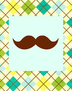 Little Man Mustache Bash Banner Free Printable
