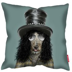 Real pets were photographed in their own homes to capture their natural expressions and then they were dressed up digitally to look like stars!<br><br /><br><br />These cushions are made with a super soft faux suede, machine washable and come complete with the cushion pad. As with all our products we use archival inks to get the brightest, saturated finish possible.