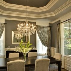 Dining room idea.. window treatments<3