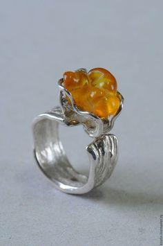 Кольцо 2 0022 янтарь в интернет-магазине на Ярмарке Мастеров. Серебряное  кольцо, янтарь de96757f702