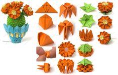 3D origami cactus
