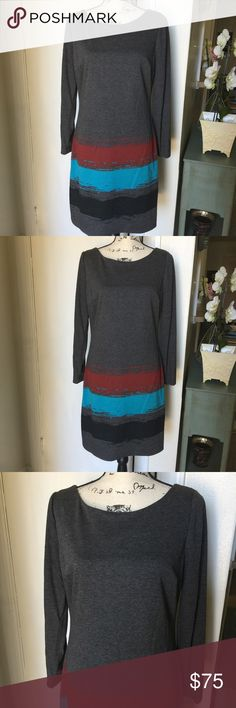 "NWT PLENTY by TRACY REESE Easy Shift Dress Gray Easy shift dress by TRACY REESE Gray longsleeve ❣️blue back zip closure fully lined A-line dress❣️Material: polyester rayon spandex ❣️LARGE: pit/bust 18 inches across  Waist 17"" across  Length 35"" ❣️MEDIUM: Pit/bust 17"" across  Waist 16"" across Length 34"" ❣️ Plenty by Tracy Reese Dresses Long Sleeve"