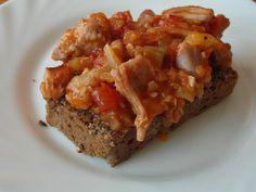 Pikantní směs na topince Meatloaf, Paleo, Hamburger, Recipies, Food And Drink, Appetizers, Pizza, Menu, Toast
