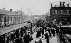 Saltcoats train station about 1905 Manchester Central, West Coast Scotland, Arran, British History, Train Station, Back Home, Glasgow, Old Photos, Street View