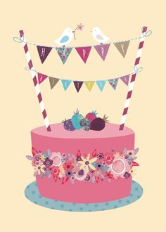 cake and bunting birthday