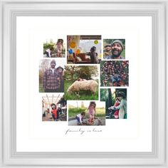Gallery Collage of Nine Framed Print, White, Classic, Cream, White, Single piece, 16 x 16 inches