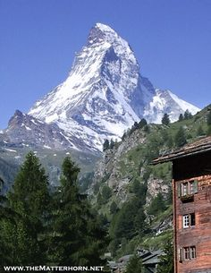 The Matterhorn! Zermatt, Switzerland This was the view out our hotel window! Rode the gondola up a mountain to get a better view. Hiked down that mountain viewing the Matterhorn. Stunning! Experience of a lifetime!