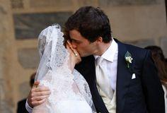 ready4royalty:  Wedding of Prince Amedeo of Belgium, Archduke of Austria Este, and Miss Elisabetta (Lili) Maria Rosboch von Wolkenstein, Rome, July 5, 2014- A kiss