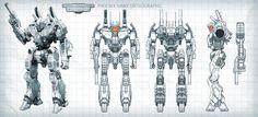 Mechwarrior: Online - Phoenix Hawk Orthographic