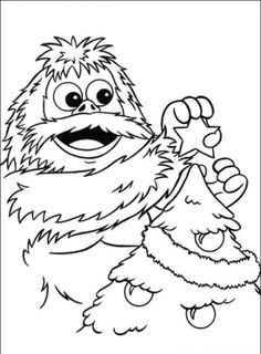 rudolph the red nosed reindeer movie coloring pages - google ... - Abominable Snowman Coloring Pages