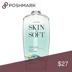 Avon Skin So Soft Bonus Size Original Bath Oil It's America's favorite bath oil, and sure to be yours, too! Pamper yourself with Skin So Soft Original Bath Oil. This jojoba infused luxury bath oil helps your skin and mind with its uplifting botanical and herbal scent. Stay radiant by using this moisturizing bath oil during your bath and shower. Take your skin from dry to soft, smooth, and touchable with Skin So Soft moisture locking formula. Keep your skin hydrated longer with the larger 25…