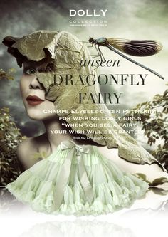 DOLLY by Le Petit Tom ® DRAGONFLY FAIRY pettiskirt champs elysees green