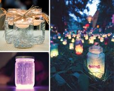 Break open a glow stick, dump it in a jar, shake it up and you have an instant glow stick lantern.