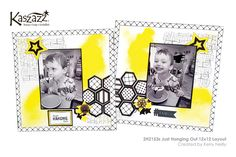 This project will show you how to create a striking double page scrapbook suitable for any occasion. You will learn how to use Texture Paste through a Stencil, background stamping and die cutting on the Ezy-Press. Texture Paste, Scrapbooking Layouts, Hanging Out, Stencils, Finding Yourself, Workshop, Learning, Die Cutting, Create