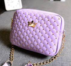 Excellent Quality 2016 Womens Bag Fashion Women Messenger Bags Rivet Chain Shoulder Bag High Quality PU Leather Crossbody SA027