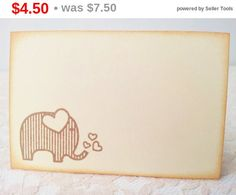 SALE Elephant Place Cards Food Buffet Label Tags by LazyDayCottage