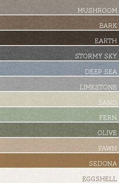 Take a set of any 3 of these colors and each room would be amazing.