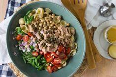 Tuna, Chickpea & Caper Orecchiette Pasta Salad