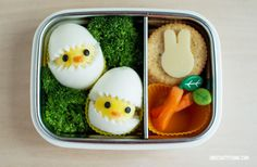 easter chick bento lunch