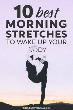 Do you wake up feeling stiff, tired, and achy? Me too. These quick morning stretches can help relieve tension and wake up your entire body! #morningyoga Morning Yoga Stretches, Wake Up, Good Morning, Tired, Feelings, Good Day, Bonjour, Bom Dia, Buongiorno