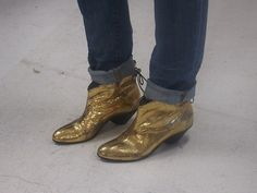 Gold booties bring good luck for the New Year!