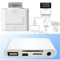 5-in-1 Camera Connection Kit - Transfer Photos from Camera to iPad - Now 80% Off Plus FREE Shipping! The 5-in-1 camera connector kit can easily download photos, music, videos, files and more to your iPad and allows you to share them with your family and friends. While Quantities Last: Clearance.co #cameraconnection #camera #electronics #iPad #sale