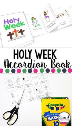 Holy Week Mini Book Holy Week printable mini book is the perfect activity for kids so that they can learn the events of Holy Week and Easter Holy Week Activities, Easter Activities For Kids, Printable Activities For Kids, Church Activities, Bible Activities, Educational Activities, Catholic Easter, Catholic Lent, Easter Religious
