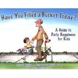Teaching kids kindness usig real bucket from haveyoufilledyourbuckettoday book. TeAching opportunity