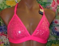 0a7055c48e7bc5 Victorias Secret PINK bra racer back triangle bralette bling fashion show L